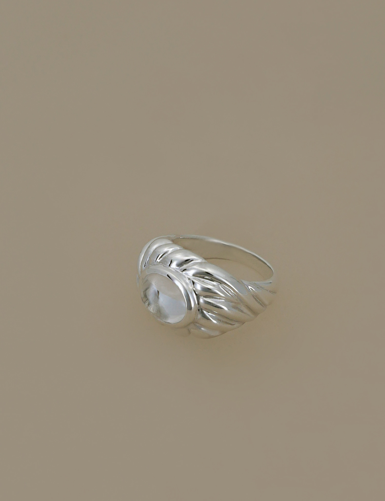 White Quartz Wave Ring