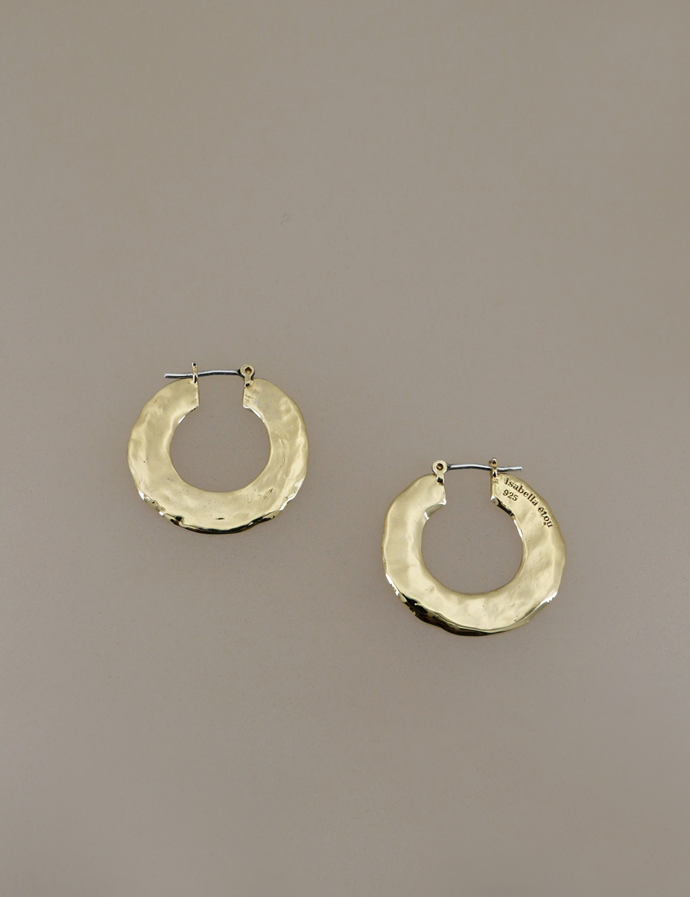 textured large hoop earring