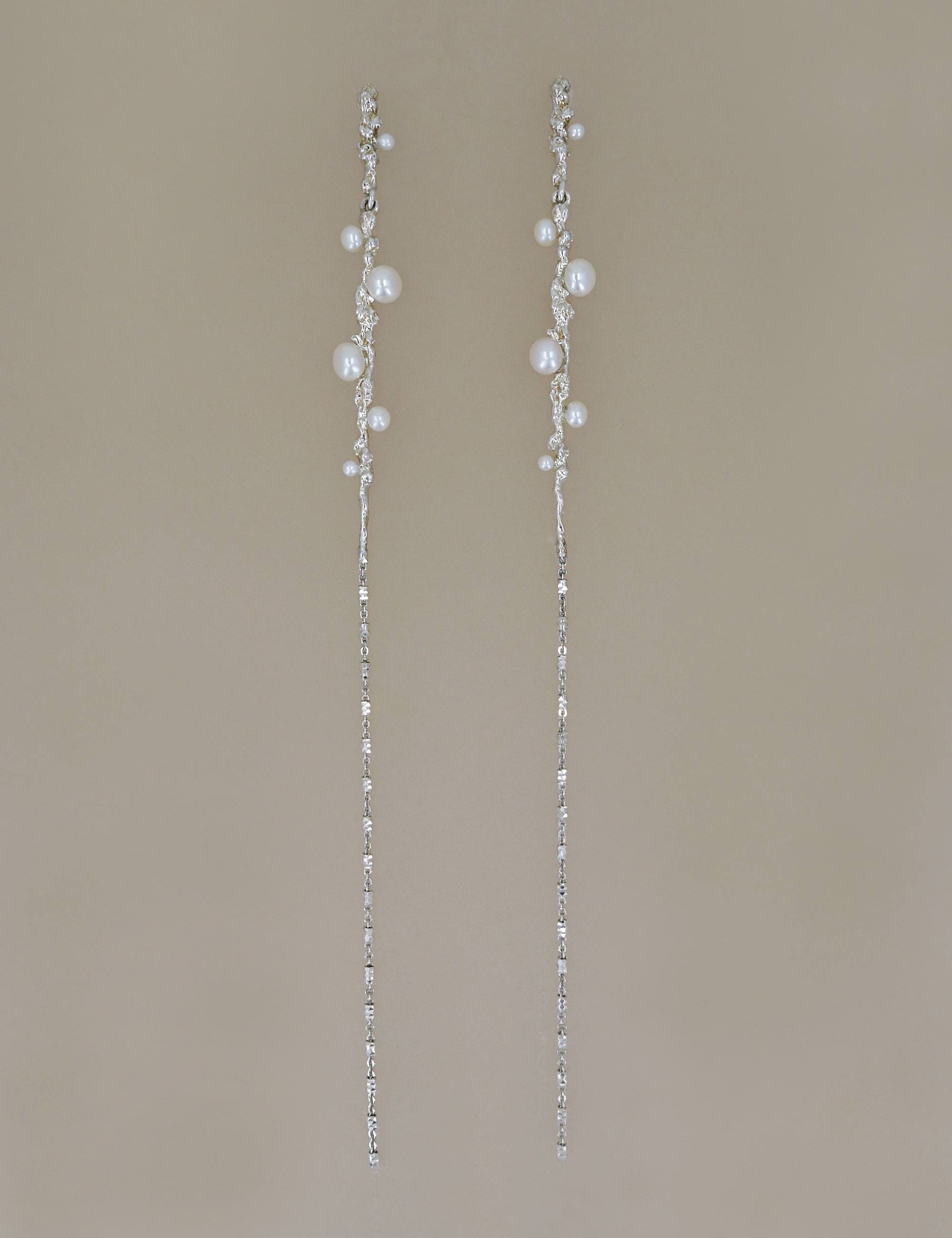 Ancient Pearl Long Chain Earring