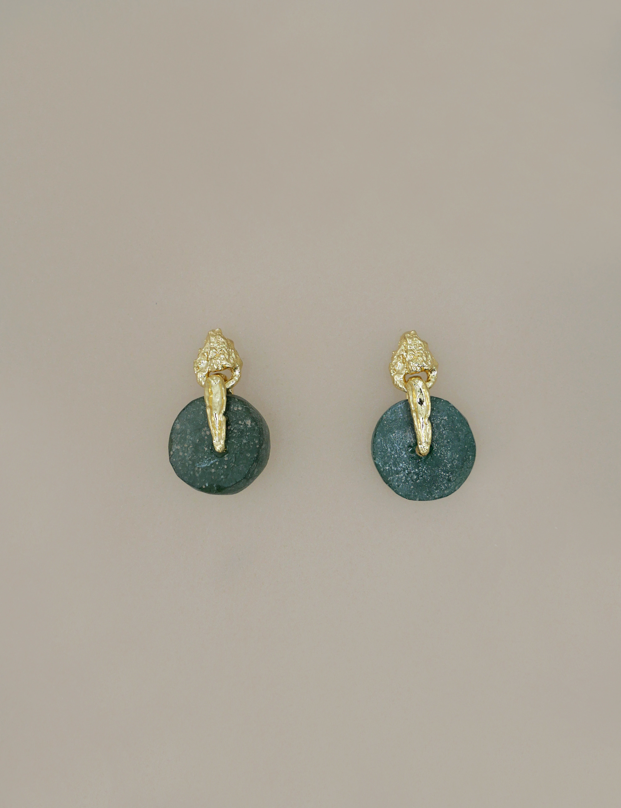 Ancient Green Roman Glass Earring