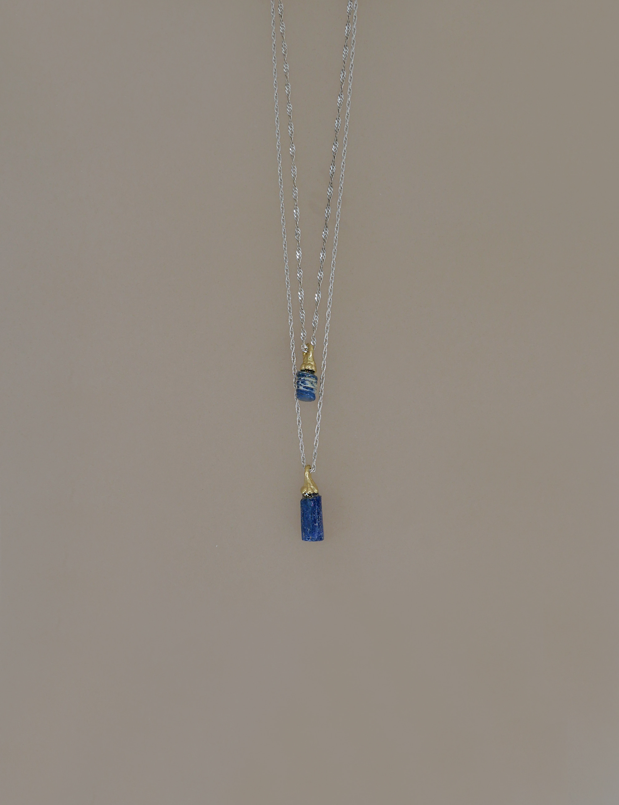 Roman Glass Mini Pieces Necklace / Blue