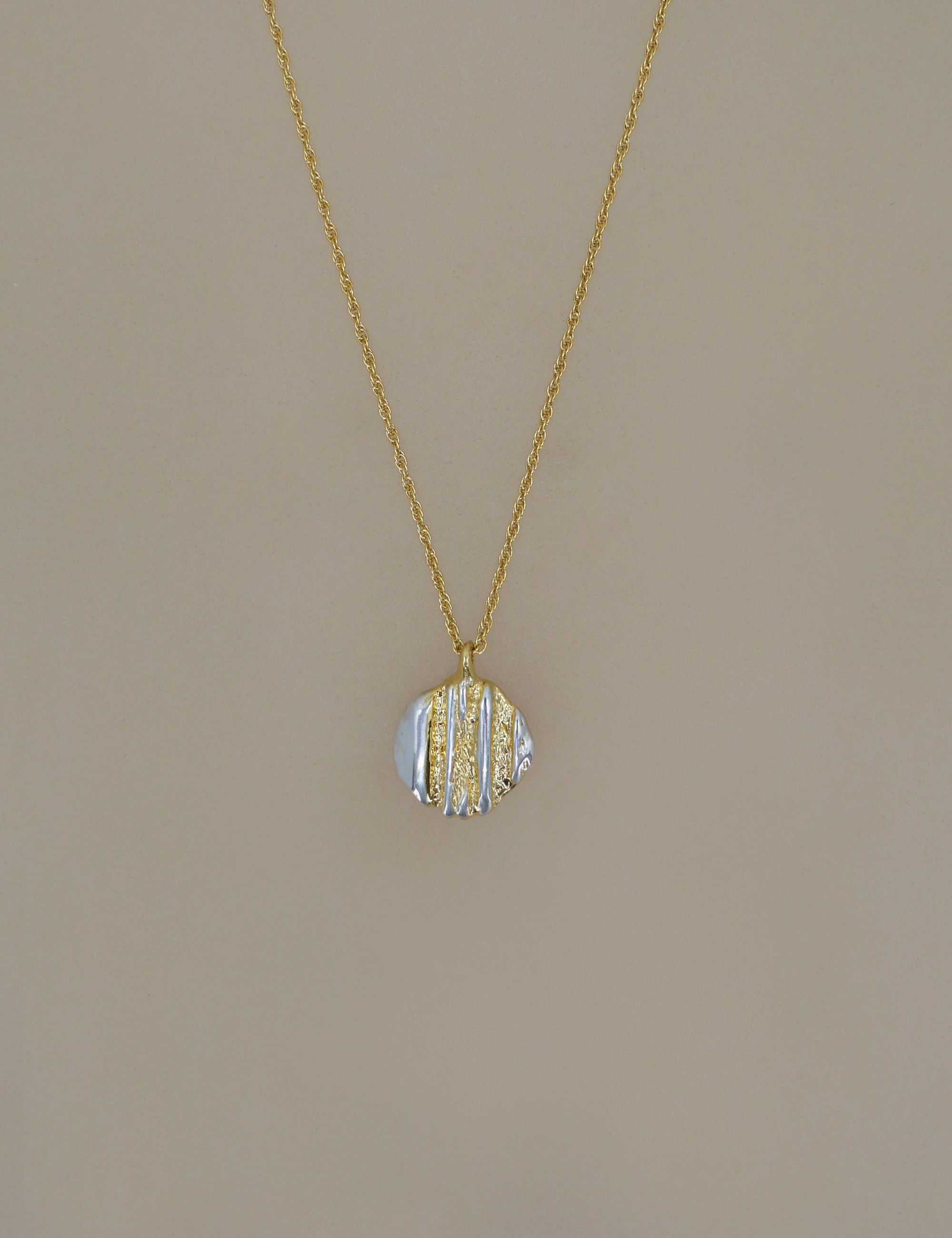 Ancient Coin Stripe Necklace