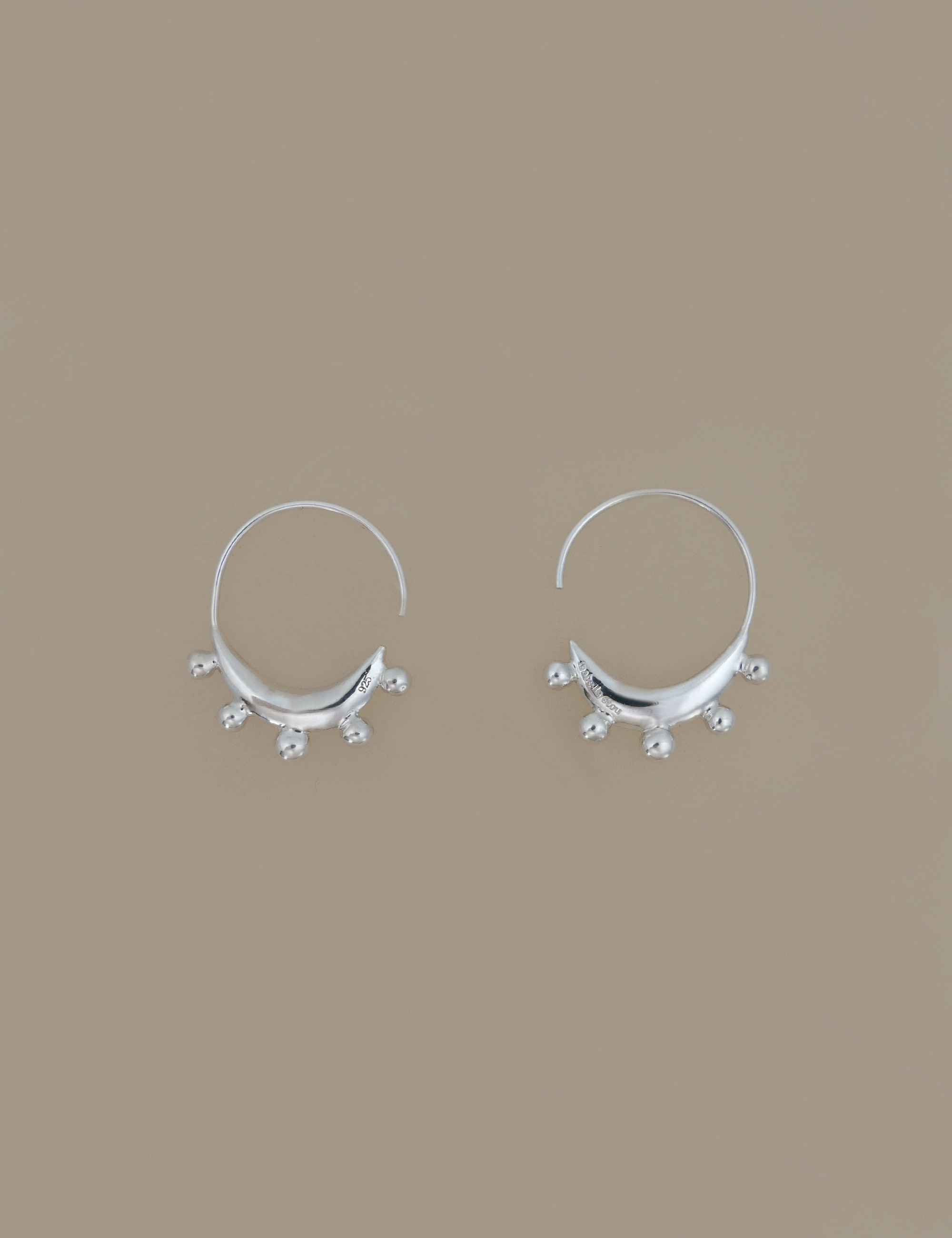 Crescent Ball Earring