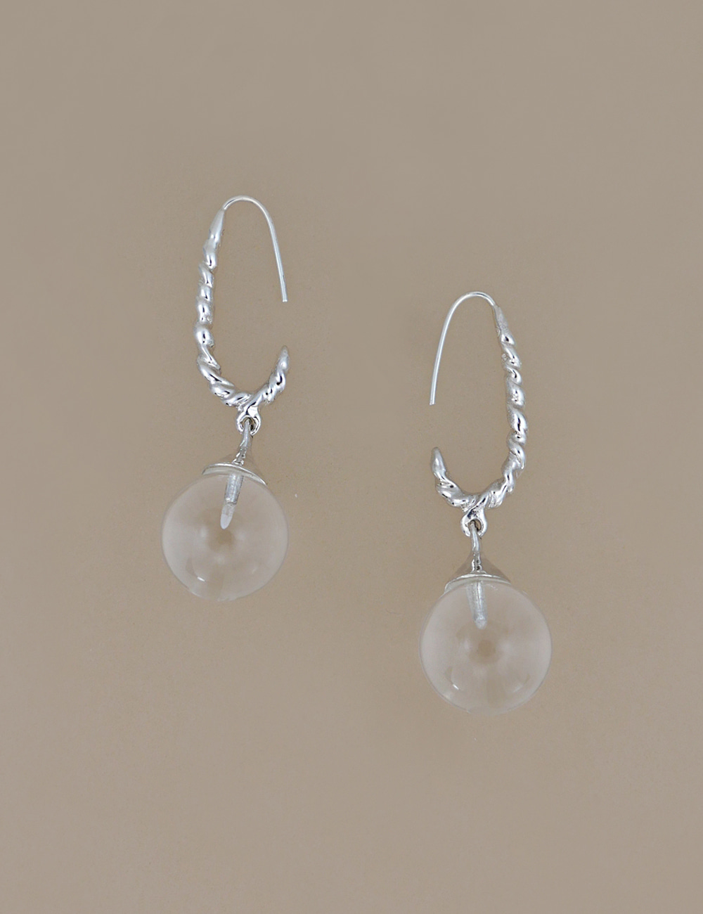 White Quartz Drop Earring
