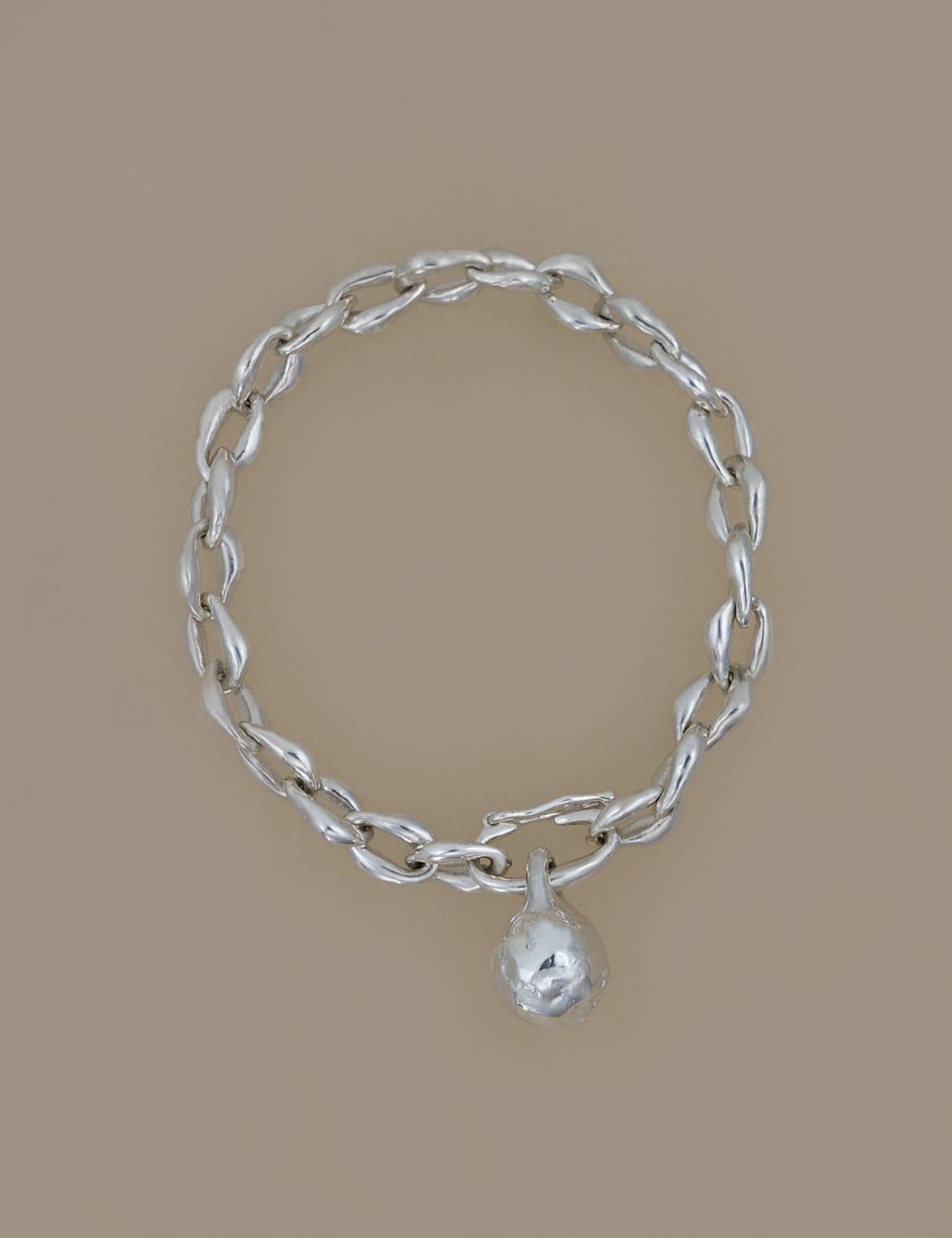 Medium Ball Form Chain Bracelet