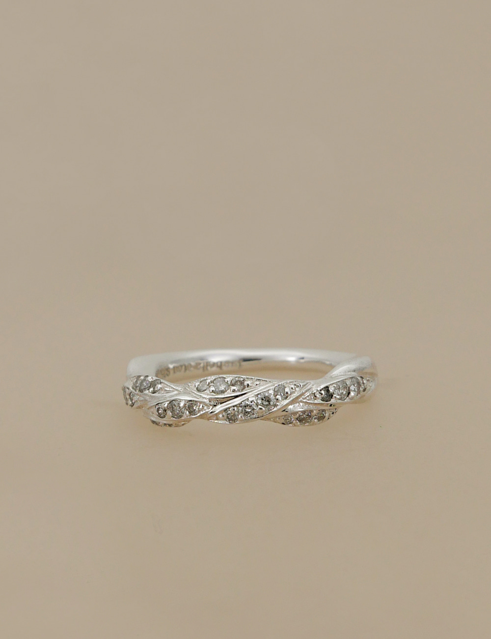 Modern Knot Diamond Ring