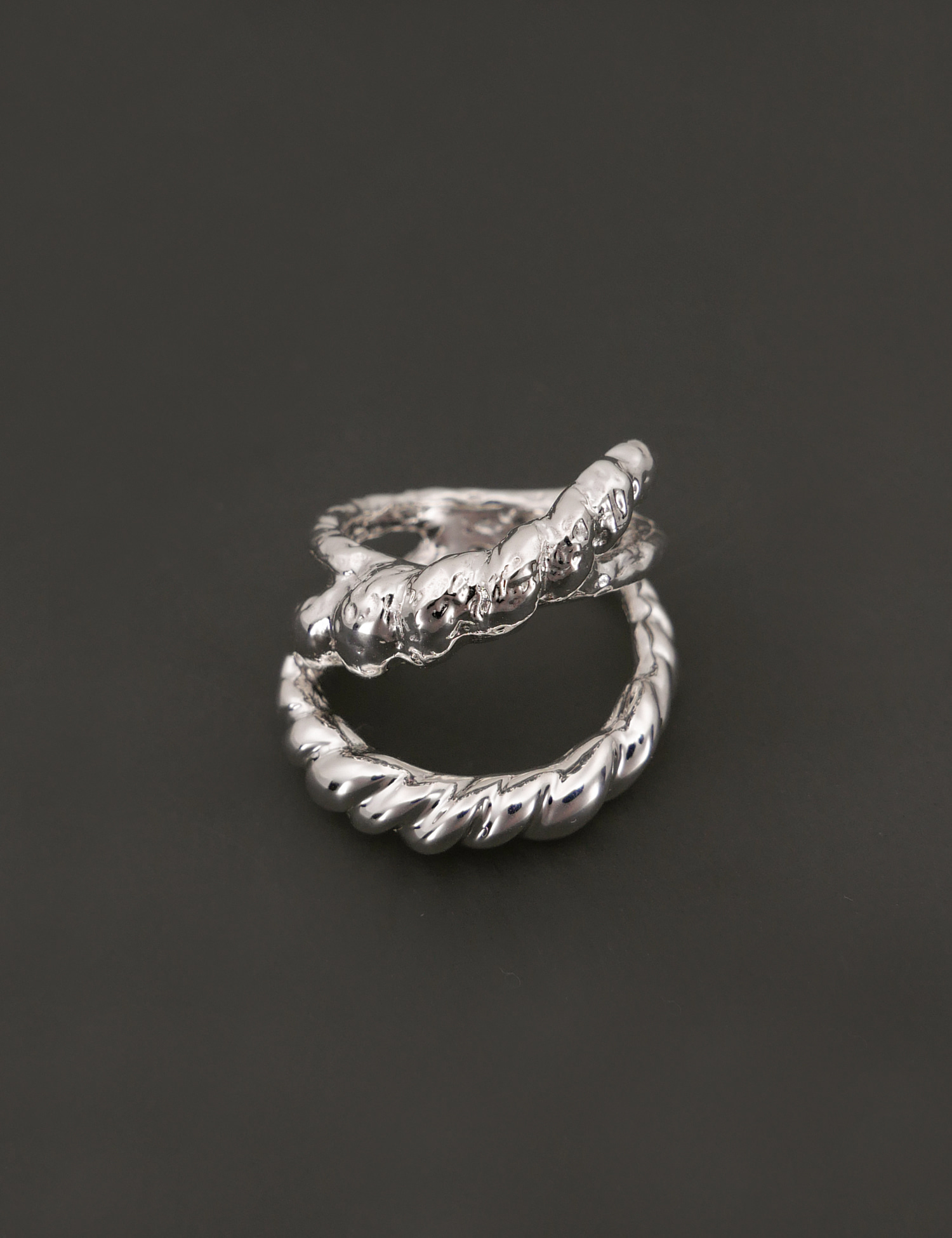 Textured Rope X Ring