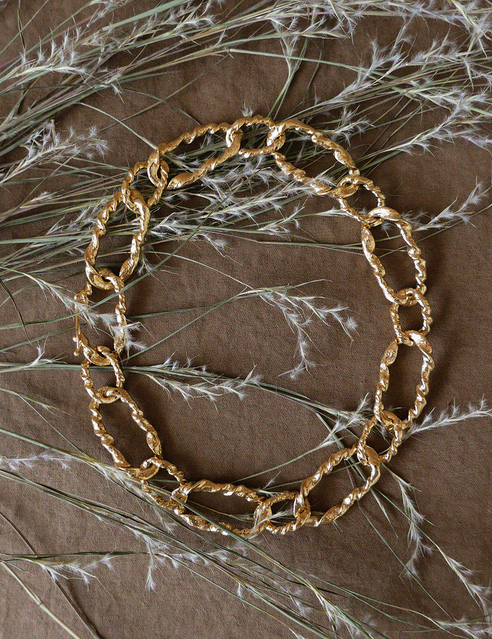 Twist Chain Chunky Necklace / Gold